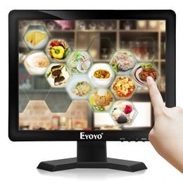 2019 tv av dvd Eyoyo 15 Zoll 1024 * 768 IPS TV Monitor Computer LCD Bildschirm TV / HDMI / VGA / AV / USB Eingang für DVD PC CCTV Überwachungskamera Raspberry Pi günstig tv av dvd