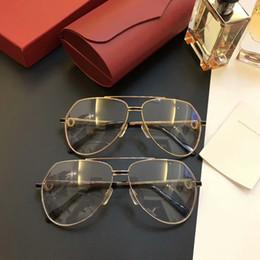 Nuevo marco de anteojos para hombres y mujeres diseñador de marca marcos de anteojos para diseñador de anteojos lentes con lentes transparentes marco de lentes y estuche 1983 desde fabricantes