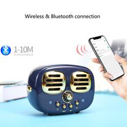 Hediye Retro Çift Hoparlör Bluetooth Kablosuz Ses Ev Subwoofer Kablosuz TF Usb Disk Kart Hoparlör Subwoofer Handsfree Çağrı Fonksiyonu cheap usb double disk nereden usb çift disk tedarikçiler