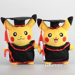 2019 jouet de rilakkuma NOUVEAU Pikachu avec Graduate Vêtements Cosplay Farcies Poupées Mignon Rilakkuma Graduate Cadeau En Peluche Jouets 11