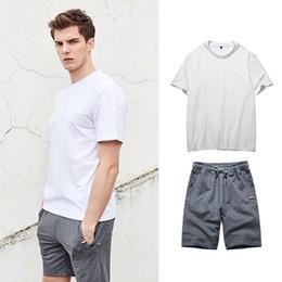 la moda della maglietta di baseball Sconti Nice Summer Set Men Causali Beach Suit Short manica corta 2 pezzi Sweatsuit + pants Fashion Tuta Sportive Uomo T Shirt + shorts