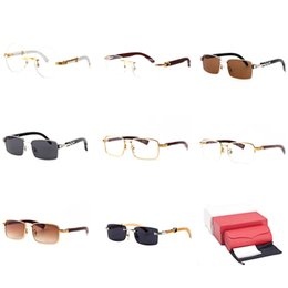 3865ac7abc Buffalo Horn Sunglasses Wood Optical Frame Eyewear Square Rimless Top  Quality Surfing Sunnies Clear Sunglasses Trend Prescription 27