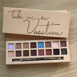 Nuova gamma di colori dell'ombretto di Kylie Jenner 16color di trucco con la spazzola Take me on Holiday Pressed Powder Eyeshadow spedizione gratuita da