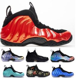new style 088a5 64c37 Herren Penny Hardaway 1 One Basketball-Schuhe Sneakers Herren Rot 2018  Habanero Denim Sequoia Island Aubergine Athletic Airs Foams Pro Baskets  Schuh
