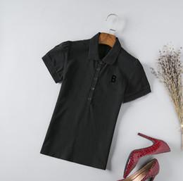 Modelos de polo on-line-2019 Camisas Das Mulheres T de Impressão de Alta Qualidade Em Torno Do Designer Da Marca T-shirts Modelos Short-mulheres Camisas Polo Atacado Asiático S-XXL