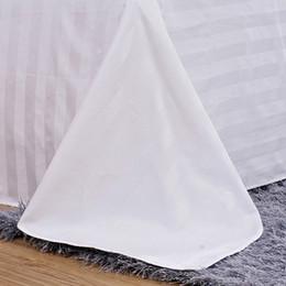 Folha lisa branca da cama de fundamento do hotel Folha lisa lisa da cor 100% de algodão de