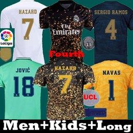 valencia casa cf Desconto Tailândia 19 camisas de futebol 20 PERIGO Real Madrid 2019 2020 Camiseta crianças RM Jovic Bale Rodrygo SERGIO RAMOS camisas do futebol da Quarta EA longas