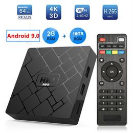 Mini h jogador on-line-HK1 mini Android 9.0 TV CAIXA 2 GB 16 GB RK3229 Quad Core Set Top Box H.265 4 K HD MI IPTV jogador ps mxq pro h96 x 96 tx3 mini