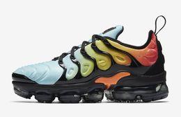 Haute qualité vapormex tn plus chaussures enfant en bas âge 2018 chaussures de course jeunes filles enfants 'noir blanc blanchi aqua sneaker clairance 24-35 ? partir de fabricateur