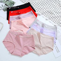 Calcinhas de algodão orgânico on-line-8 cores Mulheres Love Gun Sexy Thick Lace Confortável Casual Lolita algodão orgânico Crotch Calcinhas Briefs Underwear Underpant Ruffles NE4