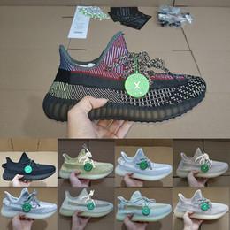 sapatilhas com mola Desconto 2020 Nova com caixa Stock X Kanye West V2 tênis para homens Mulheres Preto estática Ângulo reflexivo Lundmark Antlia Designer Shoes Big Size13