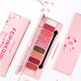 Trucco di marca coreano online-TENERE IN DIRETTA la marca Palette Matte Eyeshadow Palette per le ombre rosse Coreano Makeup Brand Pink Cherry Blossom Glitter Eyes Shadows Palet