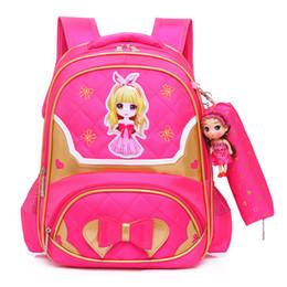 Saco de escola primário ortopédico on-line-Crianças princesa mochilas crianças sacos de escola meninas mochilas escolares primárias crianças ortopédicos mochilas saco enfant