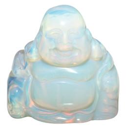 """Glück feng shui online-TUMBEELLUWA 1.5"""" OpalOpalite Stein Glücklicher lachender Buddha Tasche Statue Feng Shui Figuren heilenden Kristall Reichtum und viel Glück"""