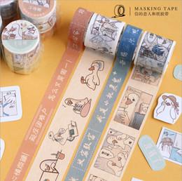 1set DIY Japonais Papier de travail série de canard Décoratif Ruban Adhésif de Bande Dessinée Washi Bande / Ruban De Masquage Autocollants 2016 ? partir de fabricateur