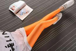 Leggings rosa morado online-Neón Naranja Amarillo negro Fuschia rosa rojo celeste morado Yoga Leggings Niñas flacas deportivo fitness entrenamiento ballet legging apretado