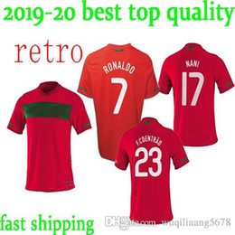 ee35d5dcc 10 11 Portugal home retro soccer jersey 2010 2011 Portugal South Africa World  Cup jersey RONALDO NANI S-XXL retro football shirts