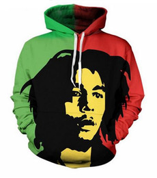 unisex clothing brands Coupons - Unisex Reggae Star Bob Marley Sweatshrits 3d Print Casual Hoodie Men Women Clothing Harajuku Style Pullover Jackets Brand Quality Coat YT066
