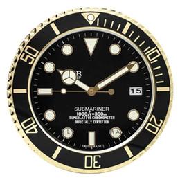 2020 relojes de pared de lujo moderno Reloj de pared luminosa en el reloj de pared de metal Logotipo de casa con la pared de lujo Fecha Relojes Decoración moderna grande Relojes Vintage rebajas relojes de pared de lujo moderno