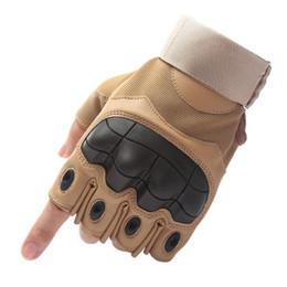 красные желтые мотоциклетные перчатки Скидка Открытый спорт Тактические перчатки стрельба половина перчаток пейнтбол углерода охота жесткий кулак перчатки тактическое оборудование nbvc