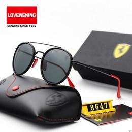 Enquadramento vintage on-line-Cor (7) óculos de ar redondos de óculos de armação de metal da cor do vintage óculos de sol óculos de lente scuderia ferrari f3647m lente primavera frete grátis