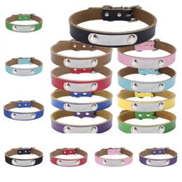 Catena di piombo online-Corda di trazione per cani a 9 colori pura pelle di vacchetta collare per animali domestici cintura di piombo addensata catena per cani accessori per cani trazione T2I5102