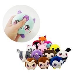 2019 brincadeira de caneta chocante Descompressão Squeeze Toys Plush Urso Dos Desenhos Animados Bolas Lento Rebote Apaziguador do Stress 10 cm 15 cores