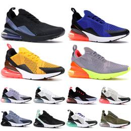 Viola top donne online-Nike AIR MAX 270 Scarpe da uomo di alta qualità triple bianche nere di design Regency Viola Tacco arcobaleno Uomo Donna Sneakers Scarpe da ginnastica Scarpe da corsa Taglia 5,5-11