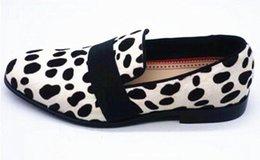 Новый леопардовый конский волос Мокасины Мужские туфли белые скольжения джентльмен бизнес обувь низкие каблуки мужские свадебные туфли от