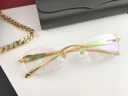 2019 gafas sin aro para mujer Bestselling Authentic para mujer para hombre sin marco gafas optica clásico Retro estilo Simple sin montura gafas de calidad superior 5102338 gafas sin aro para mujer baratos