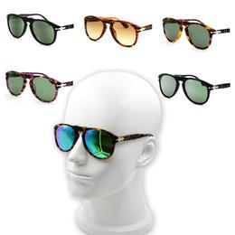 Gafas de sol italianas online-Gafas de sol 714/649 gafas de sol de diseñador de la marca italiana vendimia piloto clásico espejo de tortuga de flecha anteojos