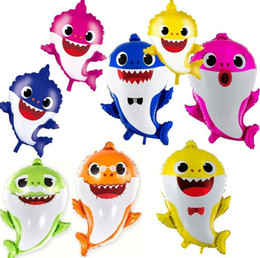 8 Arten Baby Shark Balloon Shark Cartoon Narwal Folienballons Spielzeug Geburtstagsfeierversorgungen Oceanic Shark Animal Party Dekoration Geschenk von Fabrikanten