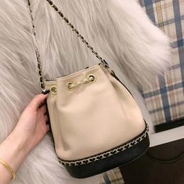 Damenmode kordelzug dame kette schulter taschen farbe passenden crossbody bag weiblichen eimer taschen kostenloser versand designer handtaschen von Fabrikanten