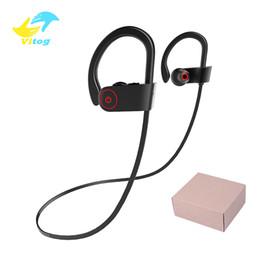 A8 auricolare bluetooth online-A8 Sport Bluetooth Headphone Auricolare Bluetooth senza fili Cuffie stereo con riduzione del rumore con microfono per Android ios