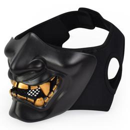 Máscaras de diablo cara online-Nueva máscara de fantasma táctica de Prajna de Halloween COS Devil Half Face Mask para hombres adultos y mujeres Cosplay party