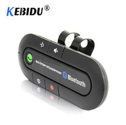 2019 clips de visera Bluetooth 4.0 Receptor Manos libres Kit de coche Visera Clip Clip Adaptador de audio Multipoint Altavoz Estéreo Auto Reproductor de Mp3 clips de visera baratos