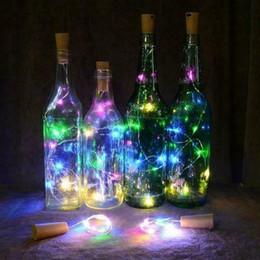2m bar licht online-2m 20 LED Mini-Flaschen-Stopper-Lampen-Schnur-feenhaftes Licht buntes Licht bardekor
