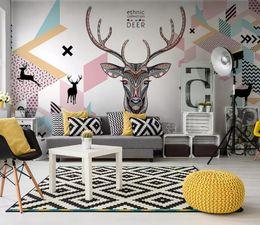 Calcomanía de cabeza de venado online-[Autoadhesivo] 3D Deer Head 18309956 Mural de papel de pared Wall Print Decal Murals
