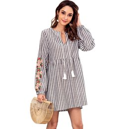 2621257b24b3 women designer maxi dresses clothes dresses Sexy short dress women  jumpsuits rompers women casual striped drawstring waist long-sleeved