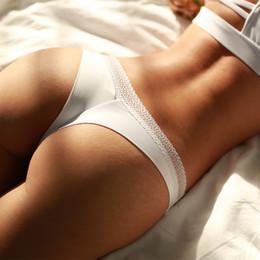 2019 cadena bikini bragas mujeres Las mujeres calientes del verano de la ropa interior de encaje ropa interior sexy de algodón ahueca hacia fuera las bragas para las mujeres tangas de cadena sólido sin costura tanga bikini informes rebajas cadena bikini bragas mujeres