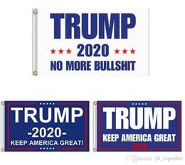 Trump Flag 2020 Keep America Great Again Banner Decor Presidente USA Donald Trump Elezione No More Bullshirt Flag 3 * 5 piedi 90 * 150cm supplier more flags da più bandiere fornitori