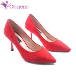 Designer robe chaussures Glglgege 2019 mode féminine à talons hauts originale nouvelle pointu top pompes noir couleur mariage Sexy sauvage pour Lady cadeaux ? partir de fabricateur