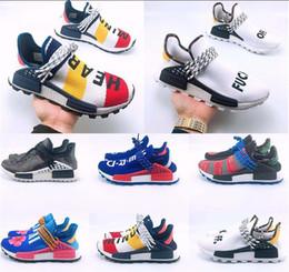 Packs ouverts en Ligne-Race humaine en gros Pharrell Williams chaussures de sport Creme x NERD Pack solaire Holi sport Hommes Femmes Pharell Runner Racer Athletic Sneaker 36-47