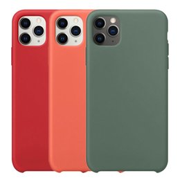 tampa do iPhone para o iPhone para o caso Original Silicone 11 Pro Max Xr Xs X caso luxuoso Silky Soft-Toque 7 8 Plus 6 6s Com Retail Box de Fornecedores de carteira lg g3 stylus