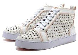 Designer Schuhe Spike rote Unterseite Sneakers Stiefel Lederschuhe junior Kalb lässig Loafer Schuhe aus Wildleder Luxus Männer Frauen Größe 36 48 d2