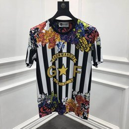 4ec8a9b088bb t shirts famous men Promo Codes - 2019 spring 19ss new fashion tees stripe flower  floral
