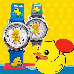 i bambini gialli guardano Sconti Vendita calda del fumetto anatra gialla Baby Watch per bambini morbido silicone orologi da polso al quarzo Bambini orologi per ragazzi ragazze studente orologio