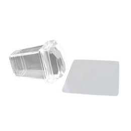 Nueva Pure Clear Jelly Silicona Nail Art Stamper Scraper Scraper Transparente Herramientas de estampado de uñas Herramientas de Uñas Manicura desde fabricantes