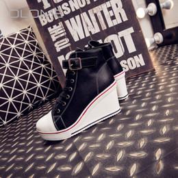 2019 scarpe da sci estate OLOME 2019 Summer super fire Slope high-top shoes cerniera laterale femminile bianco con plateau e scarpe casual da donna scarpe da sci estate economici