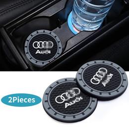 zubehör für s5 Rabatt 2 Stücke 2,75 zoll Autoinnenausstattung Anti Slip Cup Matte für Audi A3 S3 RS3 A4 S4 A5 S5 RS5 A6 S6 A7 S7 RS7 A8 Q3 Q5 SQ5 Q7 Q8